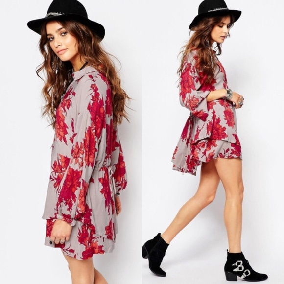 Free People Dresses & Skirts - Free People Floral Coral dress